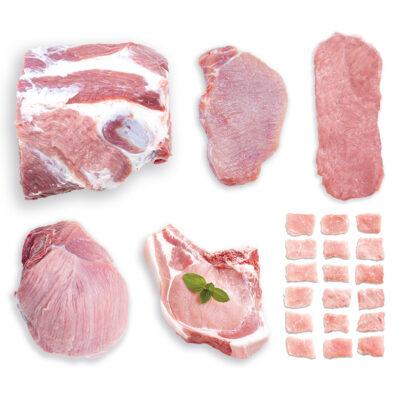 Inhalt des Alpschwein Pakets mit Ländle Gütesiegel